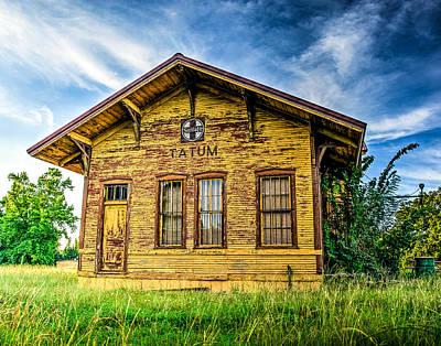Old Train Photograph - Old Santa Fe Train Depot by Geoff Mckay