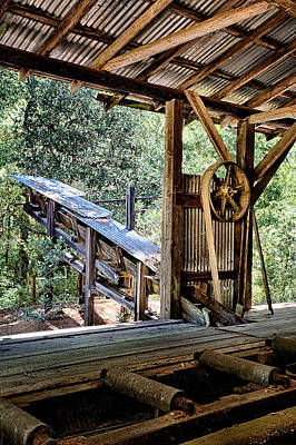 Old Sawmill Conveyor Print by Betty Depee