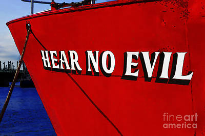 Photograph - Old Saying Hear No Evil by Phil Cardamone