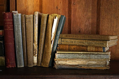 Photograph - Old School Books by Inge Riis McDonald
