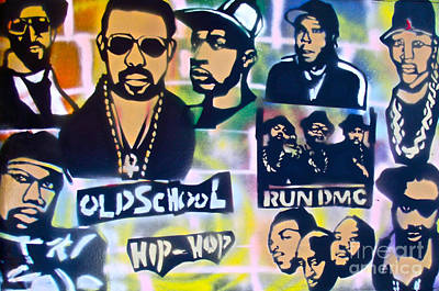 Free Speech Painting - Old School Hip Hop 2 by Tony B Conscious
