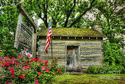 Little Cabin Photograph - Old School House by Darren Fisher