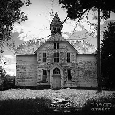 Old School House Art Print by Theresa Fiacchi