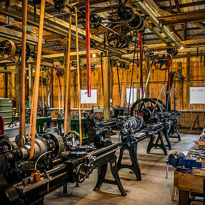 Machinists Photograph - Old School Machine Shop by Paul Freidlund