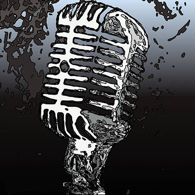 Painting - Old School Microphone by Neal Barbosa
