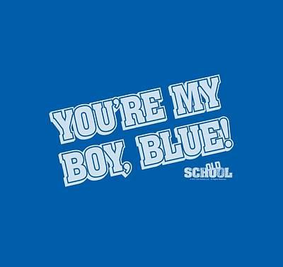 Will Ferrell Digital Art - Old School - My Boy Blue by Brand A