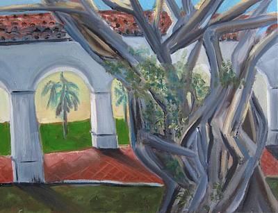 Painting - Old School Square Banyan by Kathryn Barry