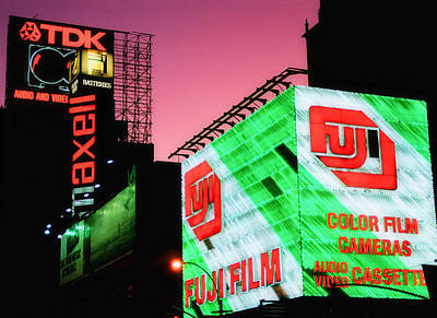 Photograph - Old School Times Square 2 by Joann Vitali