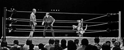 Photograph - Old School Wrestling From The Cow Palace With Pat Patterson And Mr Fuji  by Jim Fitzpatrick