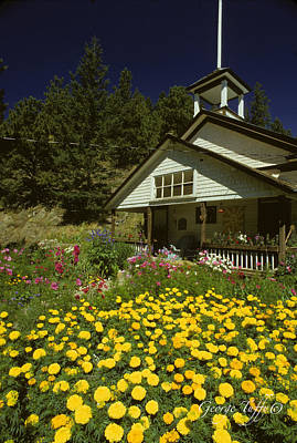 Photograph - Old Schoolhouse And Garden. by George Tuffy