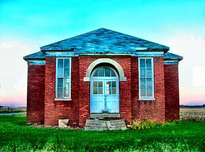 Julie Riker Dant Photograph - Old Schoolhouse by Julie Dant