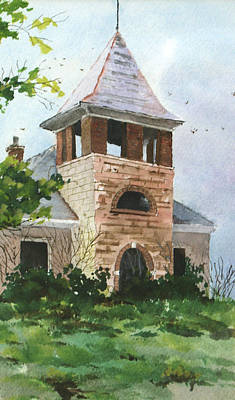 Art Print featuring the painting Old Schoolhouse by Susan Crossman Buscho