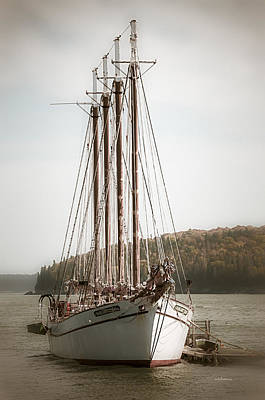 Digital Art - Old Schooner by Julie Palencia