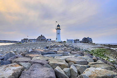 Old Scituate Light Art Print by Dan Myers