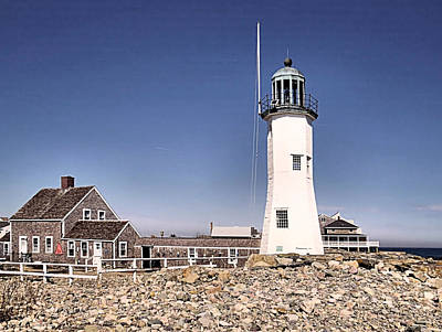 Photograph - Old Scituate Lighthouse by Janice Drew