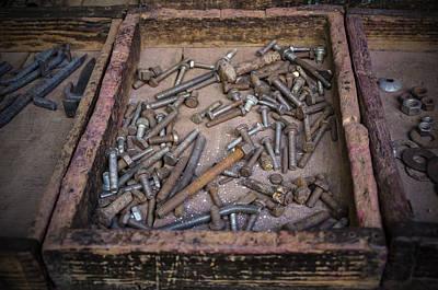 Photograph - Old Screws by Valerie Rosen