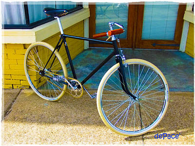 Bicycle Digital Art - Classic Men's Bicycle by KJ DePace