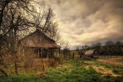 Old Shed And Barn At Osage Art Print