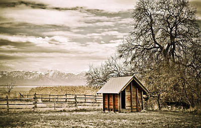 Photograph - Old Shed And Mountains by Marilyn Hunt