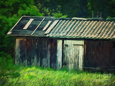 Photograph - Old Shed by Jutta Maria Pusl