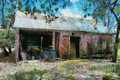 Digital Art - Old Shed Near Braidwood by Fran Woods