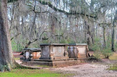 Photograph - Old Sheldon Church Broken Tombs by Scott Hansen