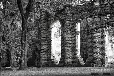Old Sheldon Church Side View Art Print by Scott Hansen