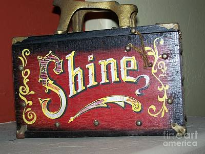 Old Shoe Shine Kit Art Print