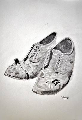 Drawing - Old Shoes by Glenn Calloway