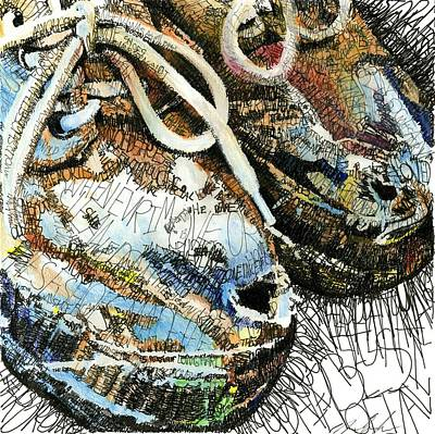 Tribute Mixed Media - Old Shoes by Michael Volpicelli