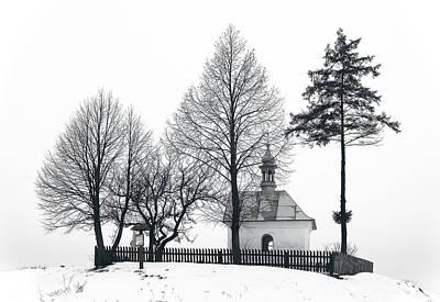 Photograph - Old Shrine In Nowiny Horynieckie by Tomasz Dziubinski