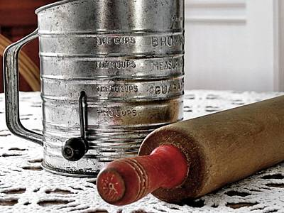 Photograph - Old Sifter And Rolling Pin by Janice Drew