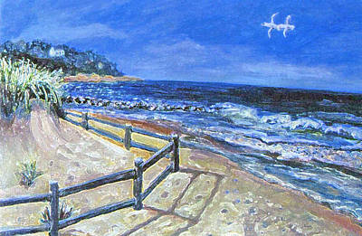 Cape Cod Painting - Old Silver Beach by Rita Brown