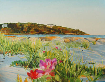 Cape Cod Painting - Old Silver Beach by Sue Birkenshaw