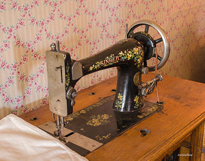 Photograph - Old Singer Sewing Machine by Allen Sheffield