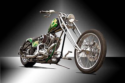 Old Skool Chopper II Art Print by Dave Koontz