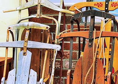 Photograph - Old Sleds by Janice Drew