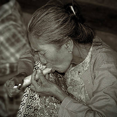 Photograph - Old Smoker Woman by RicardMN Photography