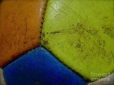 Photograph - Old Soccer Ball by Tim Good