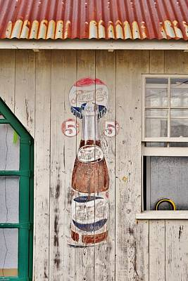 Photograph - Old Soda Ad At Go Organic Berlin Maryland by Kim Bemis
