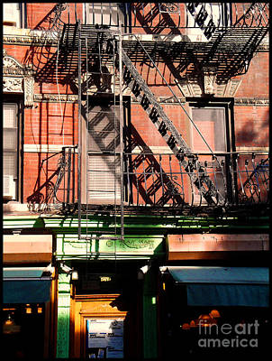 Photograph - Old Soho Fire Escapes by Miriam Danar