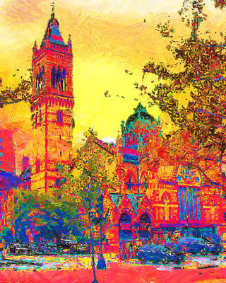 Cityscenes Painting - Old South Church by Anthony Caruso