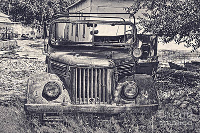 Gaz Photograph - Old Soviet Jeep by Emily Kay
