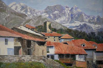 Mountins Painting - Old Spanish Village by Olga Yug