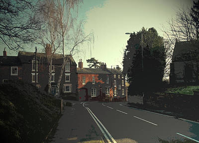 Extremes Drawing - Old Spondon, A View Down Church Street Towards Church Hill by Litz Collection
