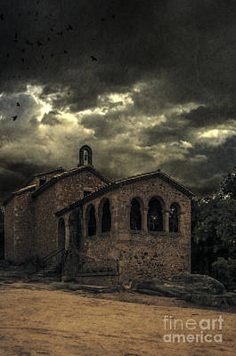 Old Spooky Chapel Art Print