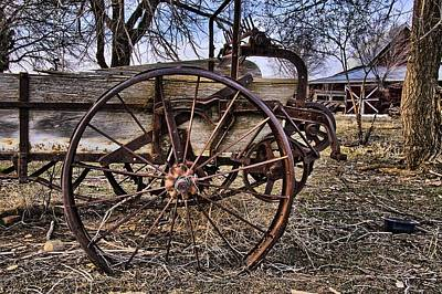 Photograph - Old Spreader Wheel by Eric Rundle