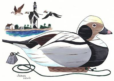 James Lewis Painting - Old Squaw Decoy  by James Lewis