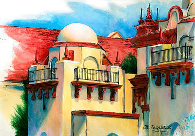Painting - Da193 Old St. Augustine By Daniel Adams by Daniel Adams