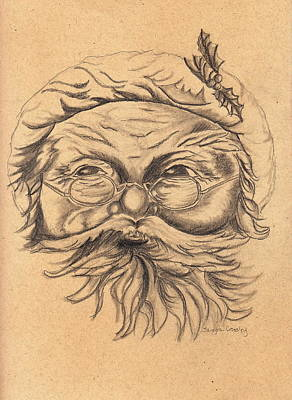 Drawing - Old St. Nick by Tamyra Crossley